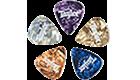 An assortment of marble picks