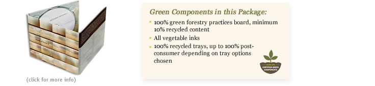 green components in the digipak