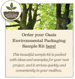 Order your Oasis Environmental Packaging Sample Kit here
