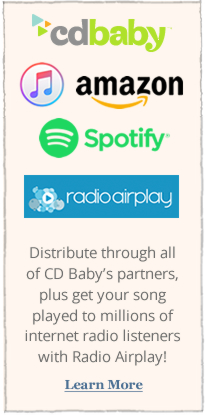 Distribute through all of CD Baby's partners, plus get your song played to millions of internet radio listeners with Radio Airplay!